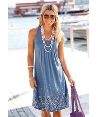Beachtime Damen Strandkleid mit Blumenprint blau 34,36,38,40,42,44,46,48,50,52