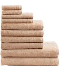 MY HOME Handtuch Set Inga mit feiner Bordüre natur 10tlg.-Set (siehe Artikeltext)