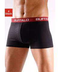 Buffalo Boxer (4 Stück) unifarbene Retro Pants schwarz L(6),M(5),S(4),XL(7),XXL(8)