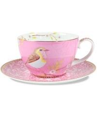 PIP STUDIO Kaffeetasse mit Untertasse Early Bird (12er-Set) Studio rosa