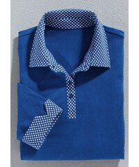 Damen Classic Basics Poloshirt mit Sternchen-Muster bedruckt CLASSIC BASICS blau 36,38,40,42,44,46,48,50,52,54
