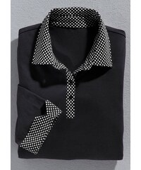 Damen Classic Basics Poloshirt mit Sternchen-Muster bedruckt CLASSIC BASICS schwarz 36,38,40,42,44,46,48,50,52,54