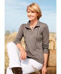 COLLECTION L. Damen Collection L. Shirt mit Wiener Nähte vorne braun 36,38,40,42,44,46,48,50,52,54