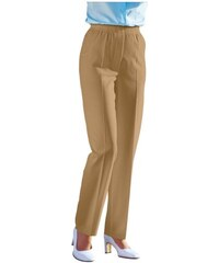 Damen Classic Basics Hose mit 2 Zierknöpfen am Rundum-Dehnbund CLASSIC BASICS braun 40,42,44,46,48,50,52,54,56