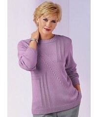 Damen Classic Pullover mit dekorativem Strickmuster CLASSIC rosa 38,40,42,44,46,48,50,52,54