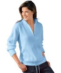 Damen Création L Pullover in sportiver Optik CRÉATION L blau 36,38,40,42,44,46,48,50
