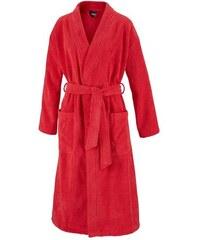 Egeria Unisex-Bademantel Topas in Kimonoform rot L,M,S,XL