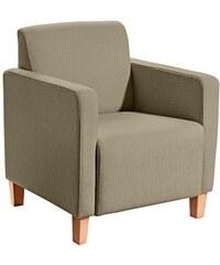 MAX WINZER Sessel in geradliniger Form Maja mit Holzfüßen 601 (=anthrazit),606 (=schoko),608 (=beige),609 (=grau),612 (=grüngrau)