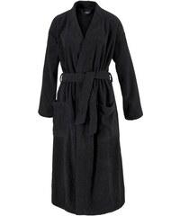 Unisex-Bademantel Topas in Kimonoform Egeria schwarz L,M,S,XL
