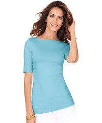 Damen Lady Shirt mit U-Boot-Ausschnitt LADY blau 36,38,40,42,44,46,48,50,52,54