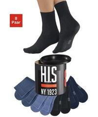 H.I.S Socken (8 Paar) Jeanstöne in der Geschenkdose Farb-Set 35-38,39-42,43-46,47-48