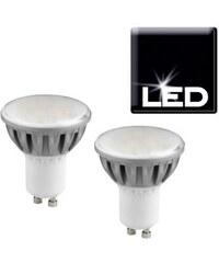 Trio Set: LED-Leuchtmittel GU10 4,2 Watt (2er Set) silberfarben