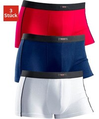 H.I.S sportlicher Hipster (3 Stück) mit schwarzem Piping seitlich Cotton made in Africa rot 3,4,5,6,7,8,9
