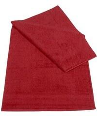 Badetuch Brillant leichte Streifenbordüre Dyckhoff rot 1xBadetuch 70x140 cm