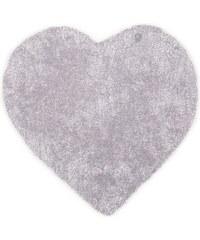 Tom Tailor Kinder-Teppich Soft Herz Hochflor Höhe 30 mm handgearbeitet grau 5 (B/L: 100x100 cm)
