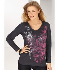 Damen Shirt mit Druckmotiv Ambria grau 36,38,40,42,44,46,48,50