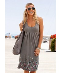 Beachtime Damen Strandkleid mit Blumenprint braun 34,36,38,40,42,44,46,48,50,52