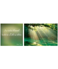Artland Wandbild-Set Spruch + Bild in 2 Größen (2tlg.) grün