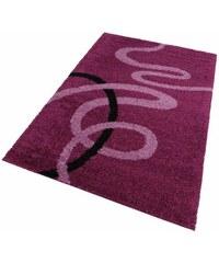 Hochflor-Teppich Posadas Höhe 30mm gewebt MY HOME lila 1 (B/L: 60x90 cm),2 (B/L: 70x140 cm),3 (B/L: 120x180 cm),4 (B/L: 160x230 cm),6 (B/L: 200x290 cm),7 (B/L: 240x320 cm)