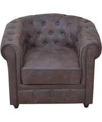 HOME AFFAIRE Sessel mit Chesterfield Knopfsteppung 1 (=braun)