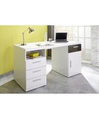 Schreibtisch Lana mit 2 Containern Baur weiß