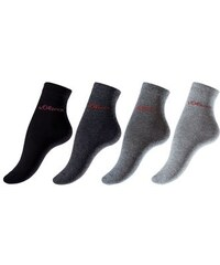 RED LABEL Bodywear Basic-Socken (4 Paar) Made in Germany S.OLIVER RED LABEL grau 27-30,31-34,35-38,39-42