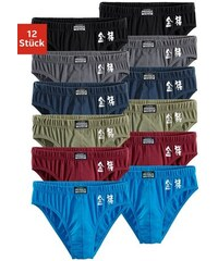 Authentic Underwear Slip (12 Stück) mit chinesischen Schriftzeichen aus bequemen Baumwoll-Stretch Authentic Underwear Le Jogger Farb-Set 3,4,5,6,7,8