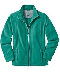Fleece-Jacke aus bewährtem Micro-Klima-Fleece HAJO grün 36,38,40,42,44,46,48,50,52,54