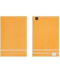 Vossen Gästehandtücher Quadrati mit feiner Bordüre orange 3xGästetücher 30x50 cm