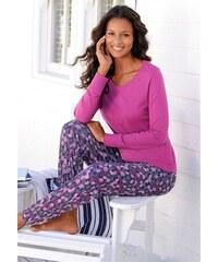 Vivance Dreams Pyjama mit Allover-Blätterprint rot 32/34,36/38,40/42,44/46,48/50