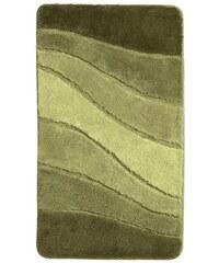 Badezimmer-Garnitur Meusch grün 1 (60x100 cm Badeteppich),2 (70x120 cm Badeteppich),4 ( 55x50 cm WC-Vorlage mit Ausschnitt),5 ( 55x65 cm WC-Vorlage ohne Ausschnitt),6 (Deckelbezug),7 (80x150 cm Badete