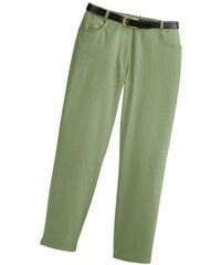CLASSIC BASICS Damen Classic Basics Jeans mit seitlichem Dehnbund grün 38,40,42,44,46,48,50,52,54,56