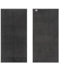 KAS Handtücher KAS Soft mit leuchtenden Farben grau 2xHandtücher 50x100 cm