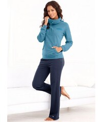 Buffalo Sweatshirt Wellness Day mit Schalkragen blau 32/34,36/38,40/42,44/46