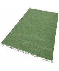 Teppich Handweb Uni handgewebt reine Baumwolle Collection HOME AFFAIRE COLLECTION grün 1 (B/L: 60x90 cm),2 (B/L: 70x140 cm),4 (B/L: 160x230 cm),5 (B/L: 90x160 cm),6 (B/L: 190x290 cm)