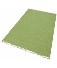 HOME AFFAIRE COLLECTION Teppich Handweb Uni handgewebt reine Baumwolle Collection grün 1 (B/L: 60x90 cm),2 (B/L: 70x140 cm),3 (B/L: 120x180 cm),4 (B/L: 160x230 cm),5 (B/L: 90x160 cm),6 (B/L: 190x290 c