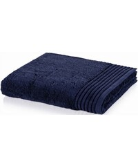Handtuch Loft mit breiter Bordüre MÖVE blau 1xHandtuch 50x100 cm