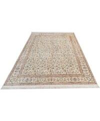 Orient-Teppich Parwis Kashan Fallah handgeknüpft echt Seide 1.000.000 Knoten/m² PARWIS natur 6 (B/L: 197x256 cm)