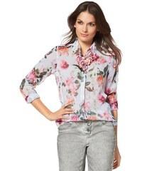 Tamaris Damen Damenbluse in Chiffon mit Floral-Druck weiß 34,36,38,40,42,44,46