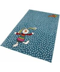 SIGIKID Kinder-Teppich Rainbow Rabbit blau 1 (B/L: 80x150 cm),2 (B/L: 120x170 cm),3 (B/L: 133x200 cm),4 (B/L: 160x225 cm),5 (B/L: 200x290 cm)
