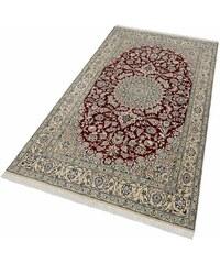 Orient-Teppich Nain Scherkat Royal1 handgeknüpft 450.000 Knoten/m² mit Seidenanteil Baur rot 4 (B/L: 170x240 cm),6 (B/L: 200x300 cm)