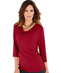CLASSIC INSPIRATIONEN Damen Classic Inspirationen Shirt mit kleinem Wasserfallkragen rot 36,38,40,42,44,46,48,50,52,54