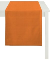 APELT Tischläufer TIZIAN Uni Rips orange 48x135 cm