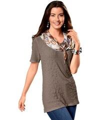 Damen Classic Basics Longshirt in schmeichelhafter A-Form CLASSIC BASICS braun 38,42,46,48,50,52,54,56