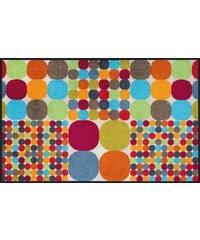 WASH+DRY BY KLEEN-TEX Läufer wash+dry In- und Outdoor Mikado Big Dots waschbar bunt 18 (B/L: 75x120 cm)