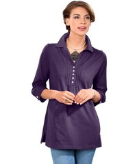Damen Classic Basics Shirttunika in Wohlfühl-Qualität CLASSIC BASICS lila 38,40,42,44,46,48,50,52,54,56