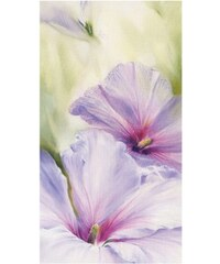 PREMIUM PICTURE Wandbild Hibiskus 50/100 cm weiß