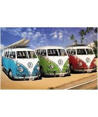 PREMIUM PICTURE Wandbild VW Bus bunt