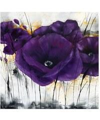 Wandbild Mohn PREMIUM PICTURE lila
