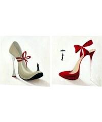 Wandbild-Set High Heels (2tlg.) PREMIUM PICTURE rot